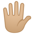 Raised Hand With Fingers Splayed: Medium-Light Skin Tone on Google Android 8.0