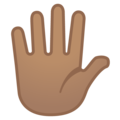 Raised Hand With Fingers Splayed: Medium Skin Tone on Google Android 8.0
