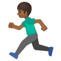 Person Running: Medium-Dark Skin Tone on Google Android 8.0