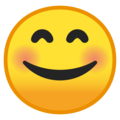 Smiling Face With Smiling Eyes on Google Android 8.0