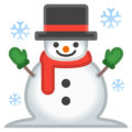 Snowman on Google Android 8.0
