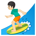 Person Surfing: Light Skin Tone on Google Android 8.0