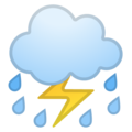 Cloud With Lightning and Rain on Google Android 8.0
