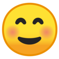 Smiling Face on Google Android 8.0