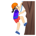 Woman Climbing: Light Skin Tone on Google Android 8.0