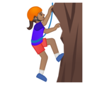 Woman Climbing: Medium Skin Tone on Google Android 8.0