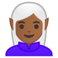 Woman Elf: Medium-Dark Skin Tone on Google Android 8.0