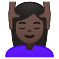 Woman Getting Massage: Dark Skin Tone on Google Android 8.0