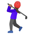 Woman Golfing: Medium Skin Tone on Google Android 8.0