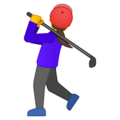 Woman Golfing on Google Android 8.0