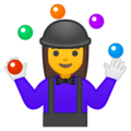 Woman Juggling on Google Android 8.0