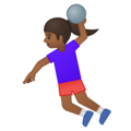 Woman Playing Handball: Medium-Dark Skin Tone on Google Android 8.0
