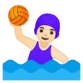 Woman Playing Water Polo: Light Skin Tone on Google Android 8.0
