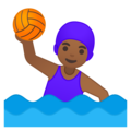 Woman Playing Water Polo: Medium-Dark Skin Tone on Google Android 8.0