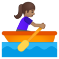 Woman Rowing Boat: Medium Skin Tone on Google Android 8.0