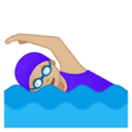 Woman Swimming: Medium-Light Skin Tone on Google Android 8.0