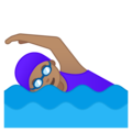 Woman Swimming: Medium Skin Tone on Google Android 8.0