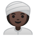 Woman Wearing Turban: Dark Skin Tone on Google Android 8.0