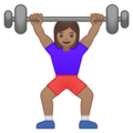 Woman Lifting Weights: Medium Skin Tone on Google Android 8.0