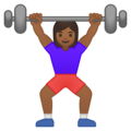 Woman Lifting Weights: Medium-Dark Skin Tone on Google Android 8.0