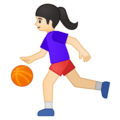 Woman Bouncing Ball: Light Skin Tone on Google Android 8.0