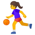 Woman Bouncing Ball on Google Android 8.0