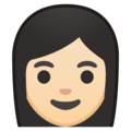 Woman: Light Skin Tone on Google Android 8.0