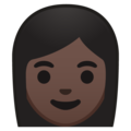 Woman: Dark Skin Tone on Google Android 8.0