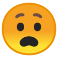 Anguished Face on Google Android 8.1