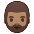 Bearded Person: Medium Skin Tone on Google Android 8.1