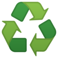 Recycling Symbol on Google Android 8.1