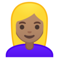 Blond-Haired Woman: Medium Skin Tone on Google Android 8.1