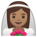 Bride With Veil: Medium Skin Tone on Google Android 8.1