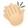 Clapping Hands: Light Skin Tone on Google Android 8.1