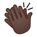 Clapping Hands: Dark Skin Tone on Google Android 8.1