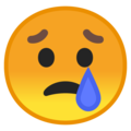 Crying Face on Google Android 8.1