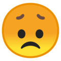 Disappointed Face on Google Android 8.1