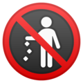 No Littering on Google Android 8.1