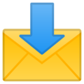 Envelope With Arrow on Google Android 8.1
