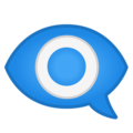 Eye in Speech Bubble on Google Android 8.1