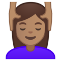 Person Getting Massage: Medium Skin Tone on Google Android 8.1