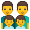 Family: Man, Man, Boy, Boy on Google Android 8.1
