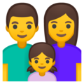 Family: Man, Woman, Girl on Google Android 8.1