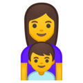 Family: Woman, Boy on Google Android 8.1