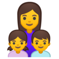 Family: Woman, Girl, Boy on Google Android 8.1
