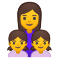Family: Woman, Girl, Girl on Google Android 8.1