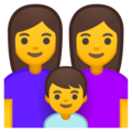 Family: Woman, Woman, Boy on Google Android 8.1
