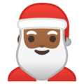 Santa Claus: Medium-Dark Skin Tone on Google Android 8.1