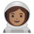 Woman Astronaut: Medium Skin Tone on Google Android 8.1