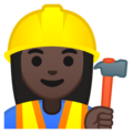 Woman Construction Worker: Dark Skin Tone on Google Android 8.1